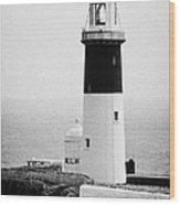 East Light Lighthouse Altacarry Altacorry Head Rathlin Island  Wood Print
