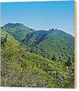 East Peak Of Mount Tamalpias-california Wood Print