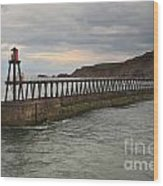 East Pier Whitby Wood Print