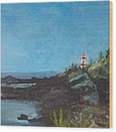 East Quoddy Head Lighthouse Wood Print