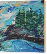 Campobello Lighthouse Abstract Wood Print