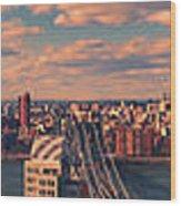 East River Bridges Wood Print