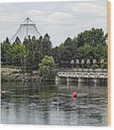 East Riverfront Park And Dam - Spokane Washington Wood Print by Daniel Hagerman