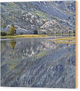 East Rosebud Lake Fall Panorama Wood Print by Roger Snyder
