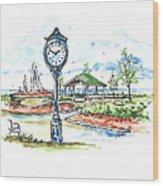 East Tawas Harbor Park Wood Print