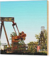 East Texas Oil Field Wood Print