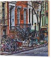 East Village Bicycles Wood Print