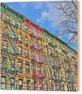 East Village Buildings On East Fourth Street And Bowery Wood Print