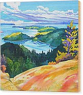 Easter Bluff View Wood Print