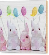Easter Bunny Toys Wood Print