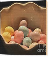 Easter Candy Malted Milk Balls I Wood Print