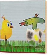 Easter Egg - Disagreeable Surprise Wood Print