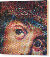 Easter Eggs Mosaic Wood Print