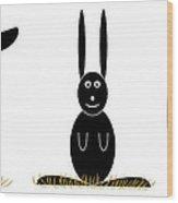 Easter Elements Wood Print