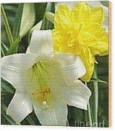 Easter Flowers Wood Print