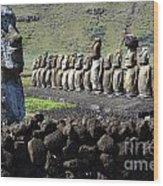 Easter Island 4 Wood Print