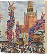 Easter Market At The Moscow Kremlin Wood Print