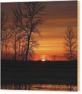 Easter Sunset Wood Print