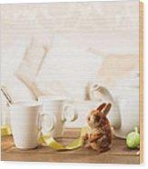Easter Tea Break Wood Print