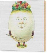 Eastereggs 04 Wood Print