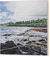 Eastern Shore Of Maui Wood Print