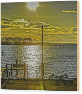 Eastern Shore Sunset Wood Print