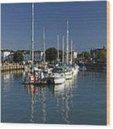 Eastern Side Moorings - Ryde Harbour Wood Print