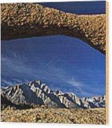 Eastern Sierra Nevada Mountains Lathe Arch Wood Print