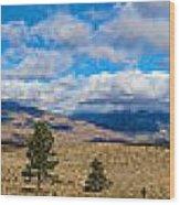 Eastern Sierras 28 Pano Wood Print