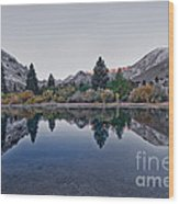 Eastern Sierras Reflection Wood Print