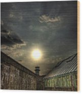Eastern State Penitentiary Sunset Wood Print