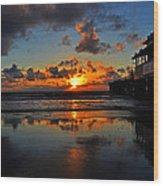 Eat At Joes - Daytona - Florida Wood Print