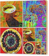 Eat Drink Play Repeat 20140705 Wood Print