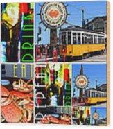 Eat Drink Play Repeat San Francisco 20140713 Vertical V2 Wood Print