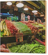 Eat Your Fruits And Vegetables Wood Print