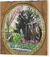 Eau De Fleurs Wood Print