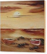 Ebb Tide And Stranded Wood Print