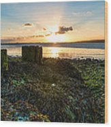 Ebb Tide At Sunset Wood Print