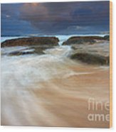 Ebb Tide Sunrise Wood Print