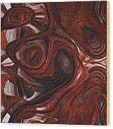 Ebony Flow Wood Print by Jack Zulli