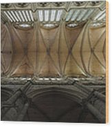 Ecclesiastical Ceiling No. 1 Wood Print by Joe Bonita
