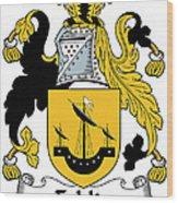 Echlin Coat Of Arms Irish Wood Print
