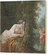 Echo And Narcissus Wood Print