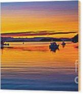 Echo Bay Sunset Wood Print