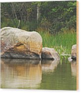 Echo Lake Reflection Wood Print