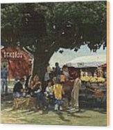 Eckert's Market Under Big Tree Wood Print