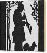 Eckstein Man And Dog Wood Print