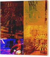 Eclectic Things Collage Wood Print