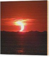 Eclipse Over Marion Reservoir 2 Wood Print