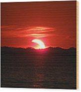Eclipse Over Marion Reservoir 3 Wood Print